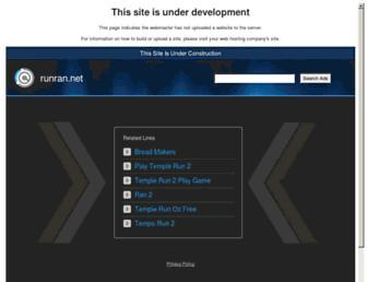 Main page screenshot of runran.net