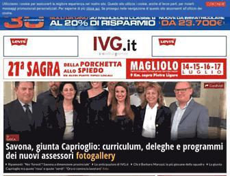 Main page screenshot of ivg.it