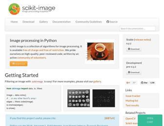 scikit-image.org screenshot