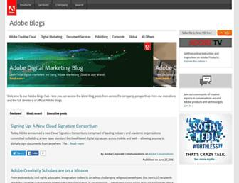 blogs.adobe.com screenshot