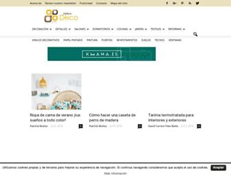 Main page screenshot of opendeco.es