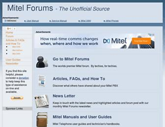 mitelforums.com screenshot