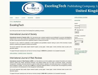 ojs.excelingtech.co.uk screenshot