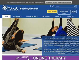 bucksmind.org.uk screenshot