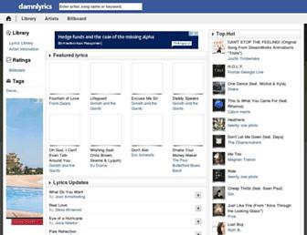 damnlyrics.com screenshot
