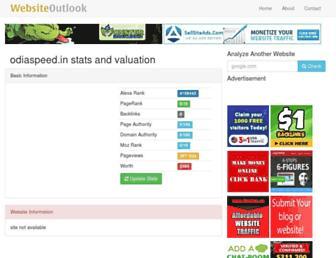odiaspeed.in.websiteoutlook.com screenshot
