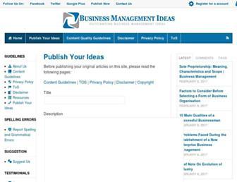 businessmanagementideas.com screenshot