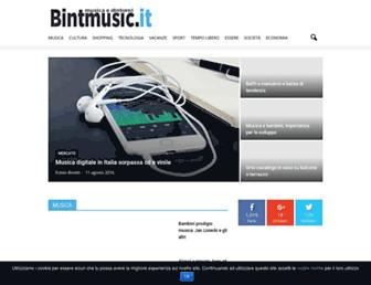 Main page screenshot of bintmusic.it