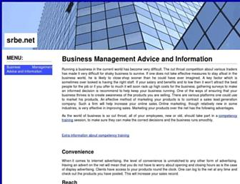 Main page screenshot of srbe.net
