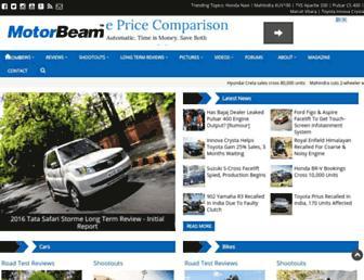 motorbeam.com screenshot