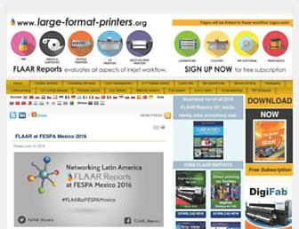 Main page screenshot of large-format-printers.org