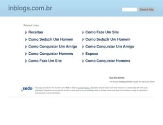 Main page screenshot of inblogs.com.br