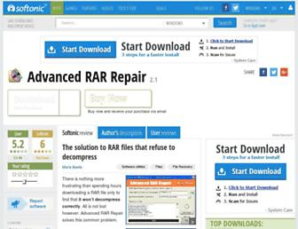 advanced-rar-repair.en.softonic.com screenshot