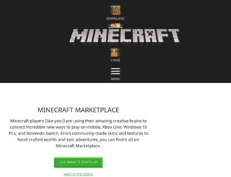 marketplace.minecraft.net screenshot