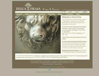 terrafirmadesign.ca screenshot