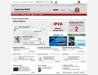 imprensaoficial.com.br screenshot