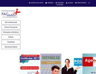 Main page screenshot of facmais.edu.br
