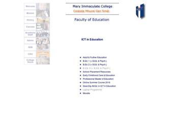 Main page screenshot of ict.mic.ul.ie
