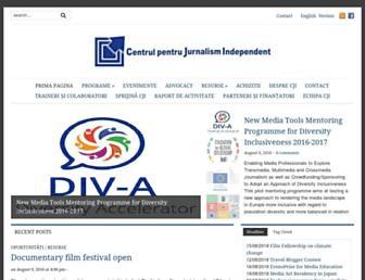 Main page screenshot of cji.ro