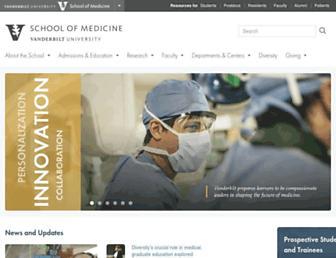 medschool.vanderbilt.edu screenshot
