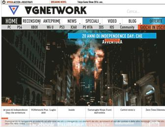 Main page screenshot of vgnetwork.it