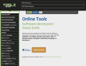 online-toolz.com screenshot