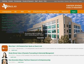 jindal.utdallas.edu screenshot