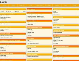 Main page screenshot of bosnie.beginthier.nl