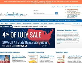 Thumbshot of Shopfamilytree.com