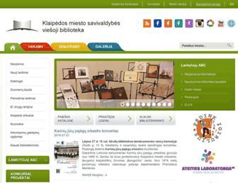 Main page screenshot of biblioteka.lt