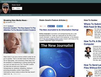 Main page screenshot of masternewmedia.org