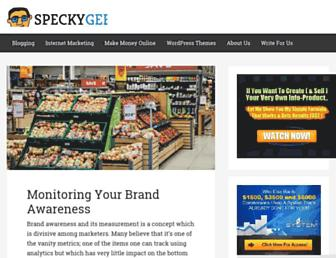Thumbshot of Speckygeek.com