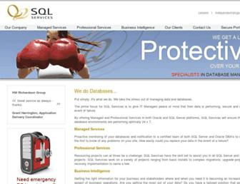 sqlservices.com screenshot