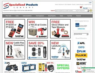 Main page screenshot of specialized.net