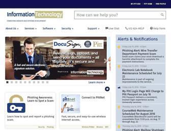 technology.pitt.edu screenshot