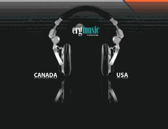 ergmusic.com screenshot
