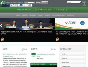 iimcal.ac.in screenshot
