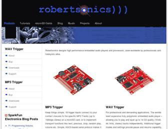 robertsonics.com screenshot