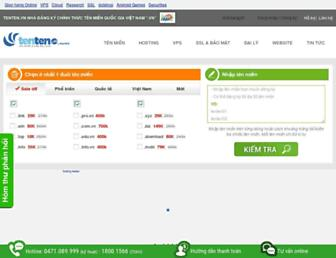 Main page screenshot of tenten.vn