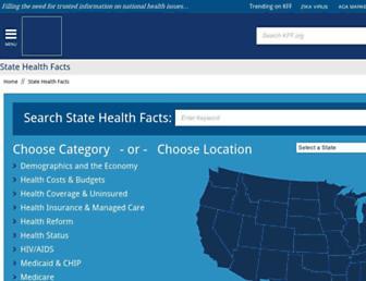 Thumbshot of Statehealthfacts.org