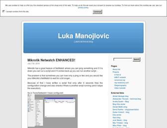 Main page screenshot of luka.manojlovic.net