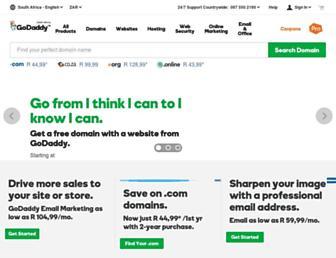 za.godaddy.com screenshot