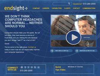 Main page screenshot of endsight.net