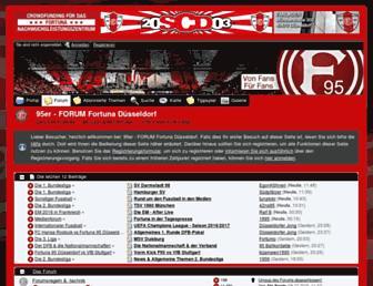 Main page screenshot of 95erforum.de