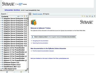 infocenter-archive.sybase.com screenshot