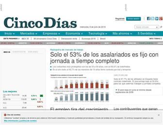 Screenshot for cincodias.com
