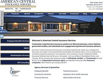americancentralinsurance.com screenshot