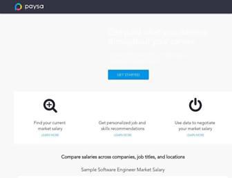 paysa.com screenshot