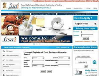 foodlicensing.fssai.gov.in screenshot