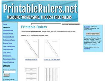 printablerulers.net screenshot